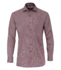 Casa Moda overhemd extra lange mouw 72cm bordeauxrood werkje