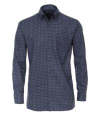 Casa Moda overhemd extra lange mouw 72cm donkerblauw fantasie motief
