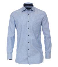 Casa Moda overhemd extra lange mouw 72cm blauw werkje button down