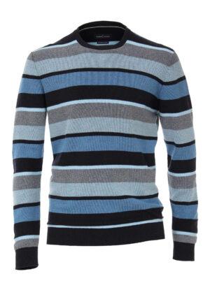 Casa Moda grote maat trui blauw en grijs