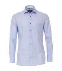 Casa Moda grote maat overhemd lange mouw blauw contrast kraag