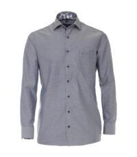 Casa Moda grote maat overhemd lange mouw blauw kraag contrast