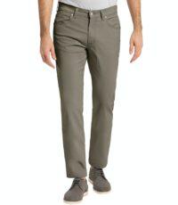 Pioneer grote maat casual stretch jeans olijfgroen model Thomas