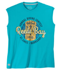Redfield mouwloos t-shirt grote maat lichtblauw Reeds Bay