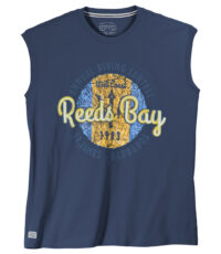 Redfield mouwloos t-shirt grote maat donkerblauw Reeds Bay