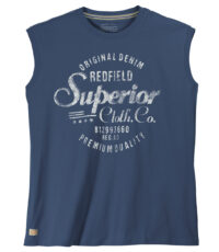 Redfield mouwloos t-shirt grote maat blauw Original Denim