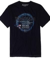 Adamo grote maat t-shirt donkerblauw Traveller