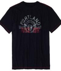 Adamo grote maat t-shirt donkerblauw Portland