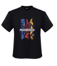 Adamo grote maat t-shirt donkerblauw San Francisco
