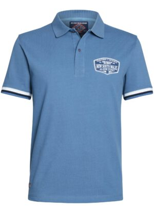 Ahorn grote maat poloshirt korte mouw blauw New South Wales