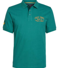 Ahorn grote maat poloshirt korte mouw groen Calif State West L.A