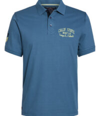 Ahorn grote maat poloshirt korte mouw blauw Calif State West L.A