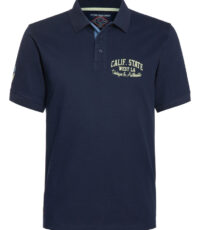 Ahorn grote maat poloshirt korte mouw donkerblauw Calif State West L.A