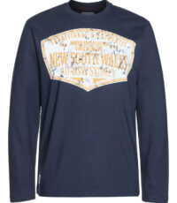 Ahorn grote maat t-shirt lange mouw donkerblauw New South Wales