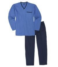 Adamo grote maat pyjama lichtblauw v-hals