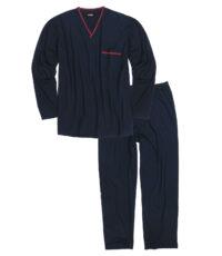 Adamo lengte maat pyjama donkerblauw met v-hals