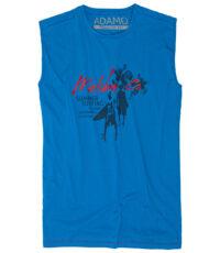 Adamo grote maat mouwloos t-shirt blauw Malibu